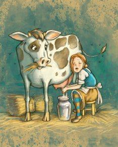 """""""Les Fables de Lafontaine"""" ( Perette et le pot au lait ), aux Éditions Coup d'oeil."""
