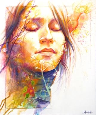 """""""Silence"""", acrylique et médiums mixtes sur toile 20 x 24 po."""
